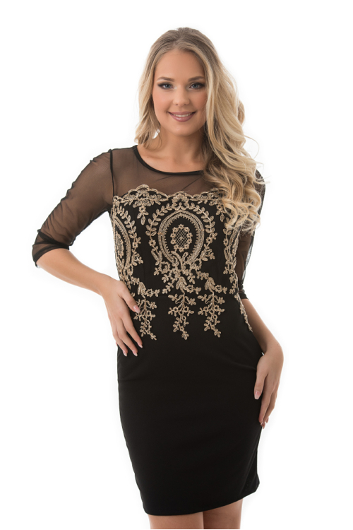 Royal alkalmi ruha, fekete-arany