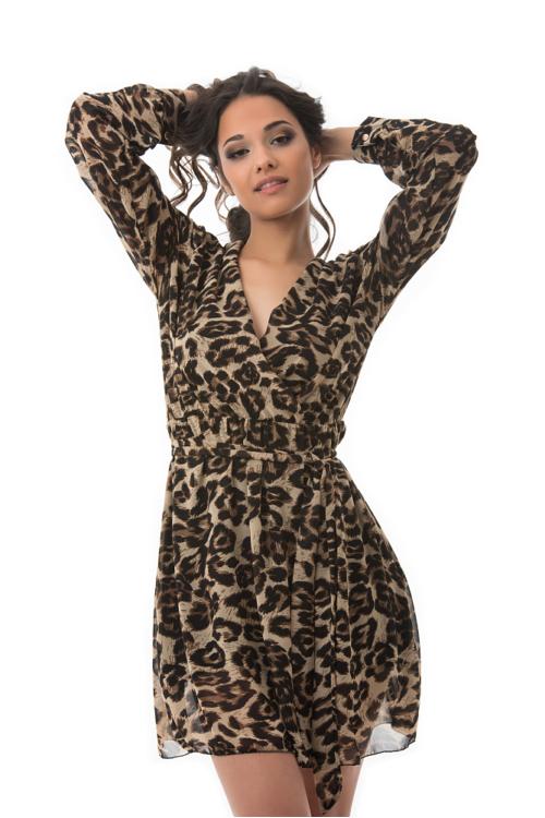 Dzsungel ruha, leopárd, világosbarna