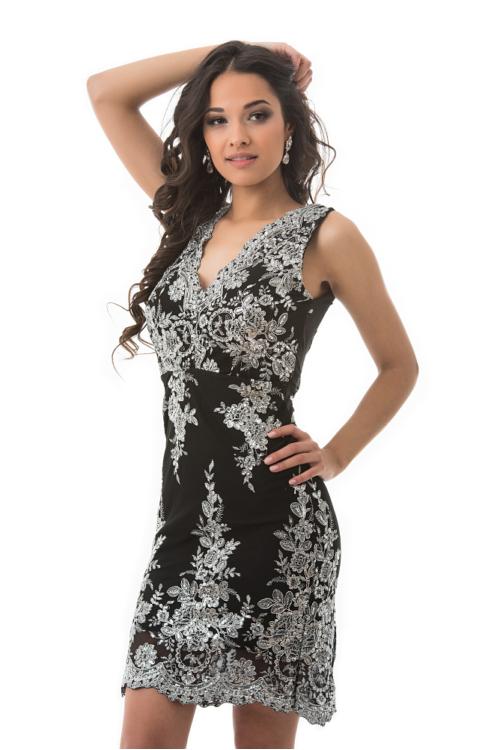 Palace alkalmi ruha, fekete-ezüst