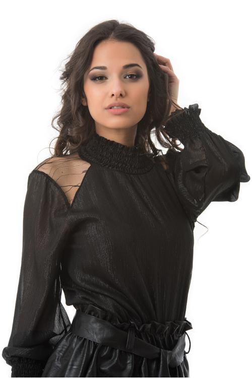 Elegant blúz, fekete