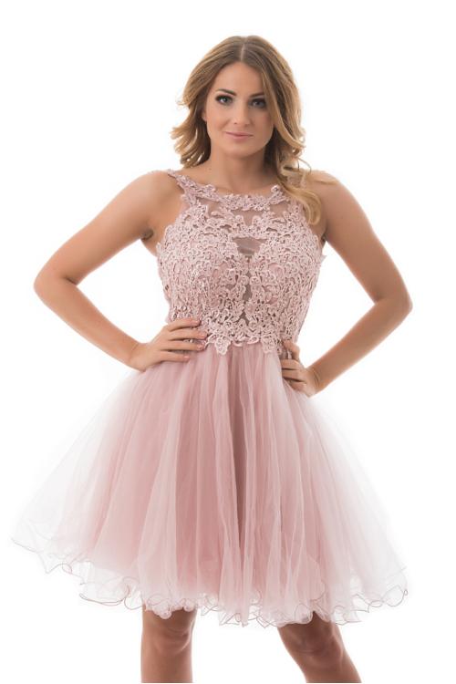 Carrie tüllös koktélruha, soft pink