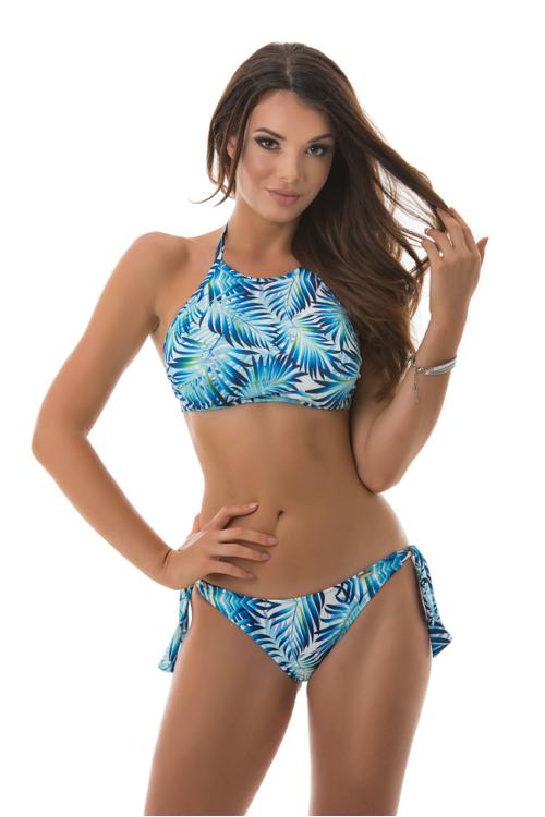 Paloma topos bikini, dzsungel mintás, kék-fehér 706