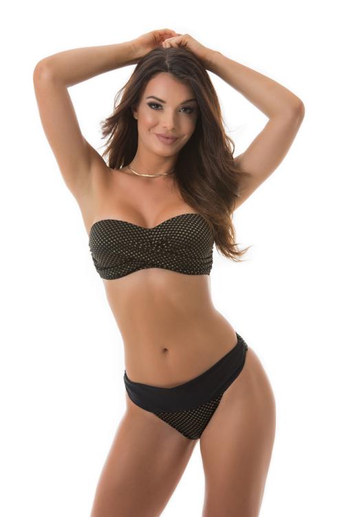 Paloma tekert merevítős cső bikini, arany mintás 904 E kosár