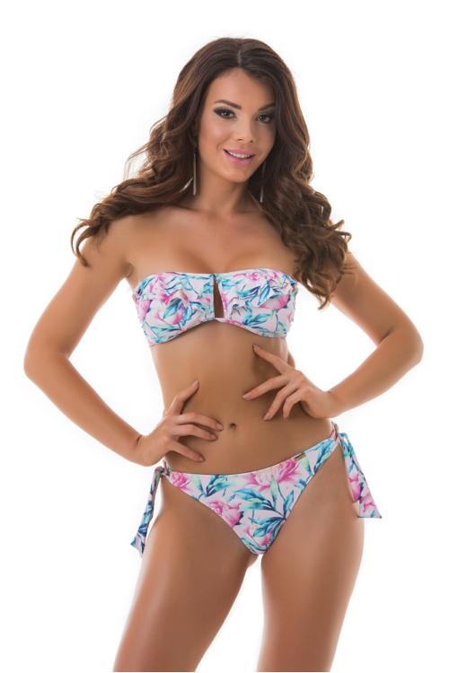 Paloma fodros szivacslapos cső bikini, bazsarózsás 707