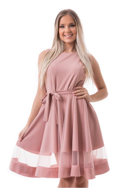 Simple alkalmi ruha, mályva