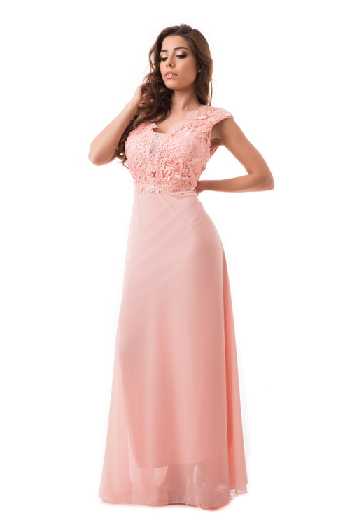 Horgolt maxiruha, rózsaszín