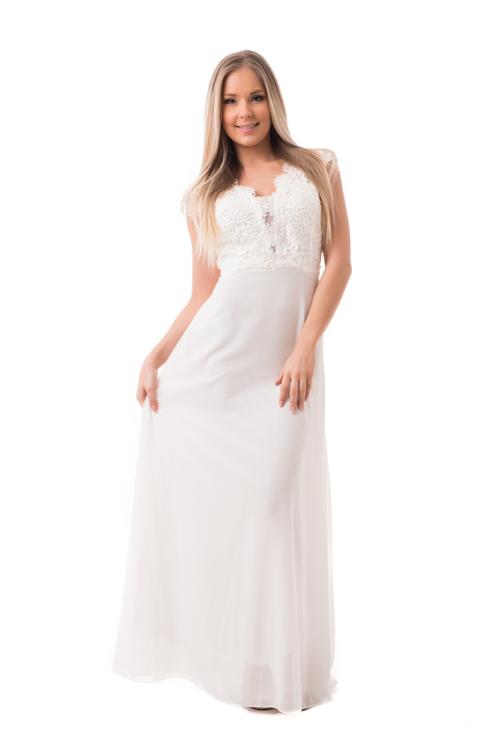 Horgolt maxiruha, fehér