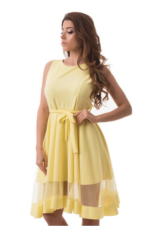 Simple alkalmi ruha, sárga