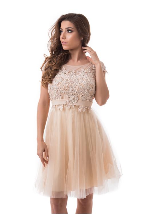 Pretty alkalmi ruha, krém