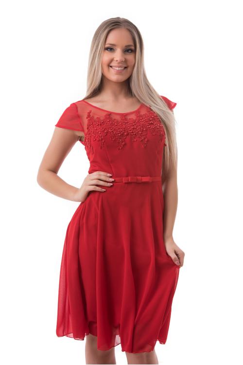 Pearly alkalmi ruha, piros