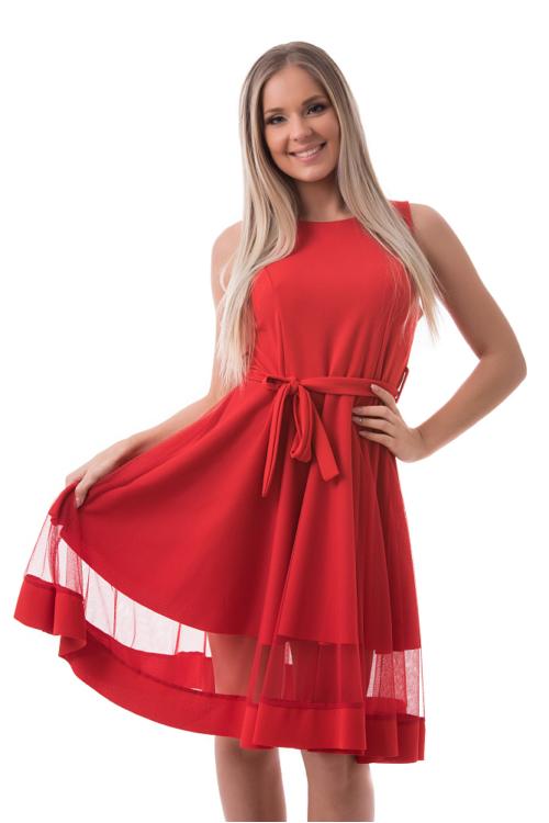 Simple alkalmi ruha, piros
