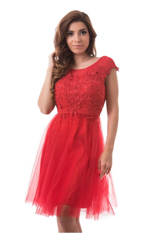 Pretty alkalmi ruha, piros