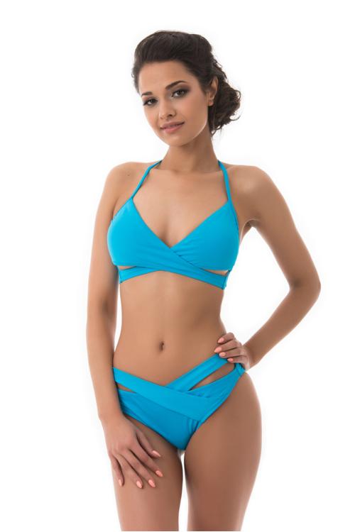 Sea szivacslapos keresztpántos háromszög bikini, kék