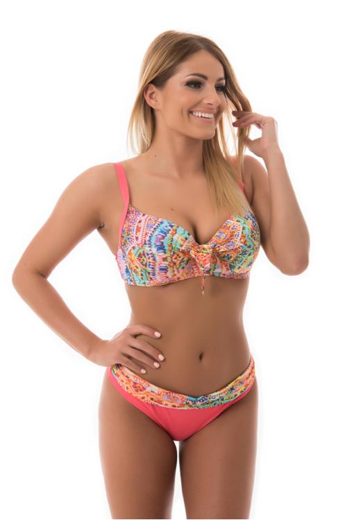 Sea cukorkás kosaras bikini, korall