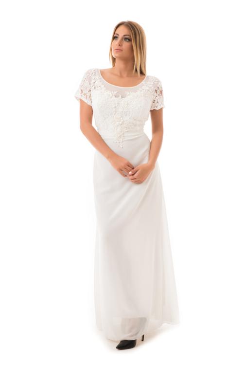 Violetta maxiruha, plus size fehér