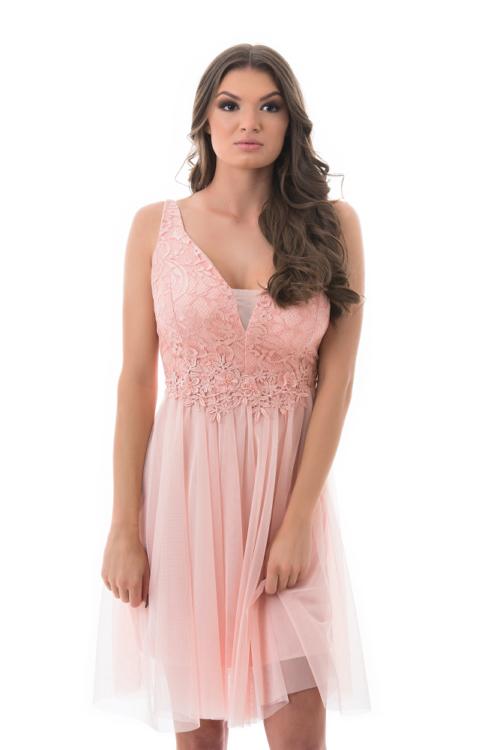 Sophia tüllös koktélruha, rózsaszín