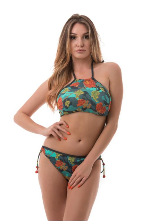 Carib romantikus hangulatú topos bikini, kék