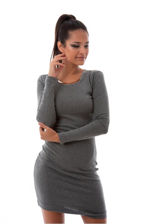 Fémbetétes pamutruha, világos szürke