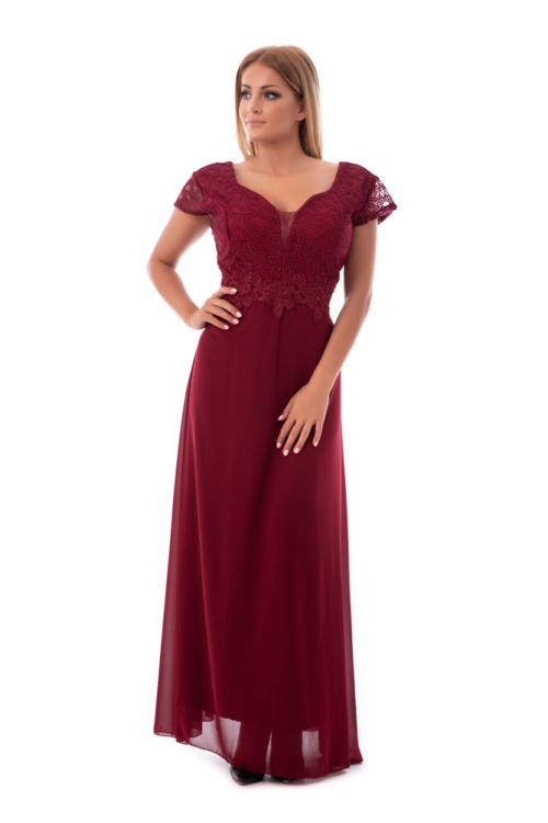 Susan maxiruha plus size, bordo