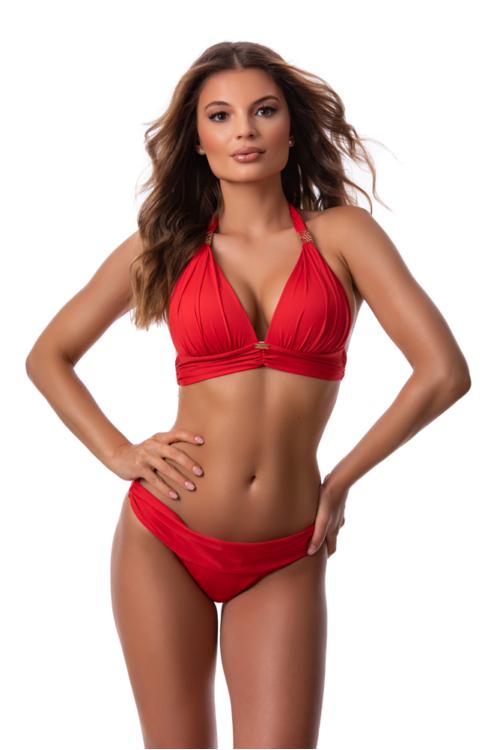 Paloma push-up háromszög bikini, piros 1014