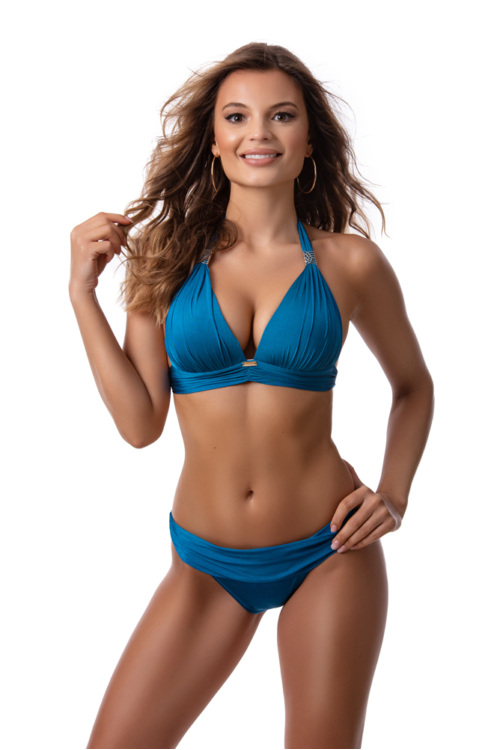 Paloma push-up háromszög bikini, petrol blue 1017