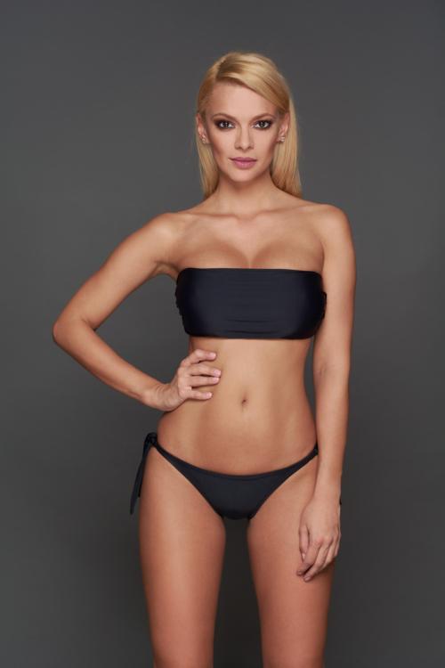 Pyramid szivacslapos cső bikini, fekete, C-D kosár