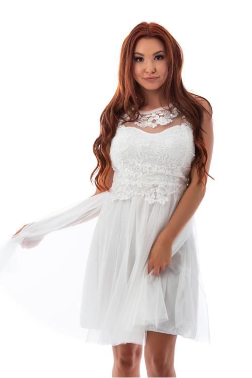 Rosemary tüllös koktélruha, fehér