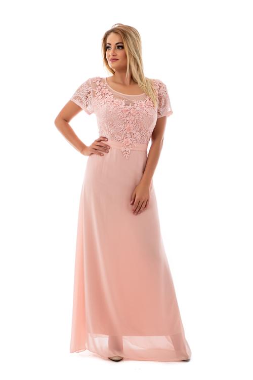 Violetta maxiruha plus size, rózsaszín