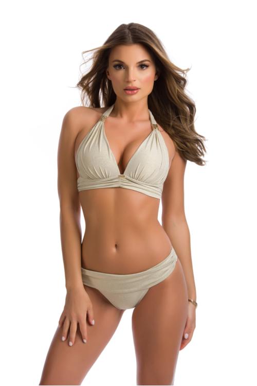 Paloma push-up háromszög bikini, krém 1005