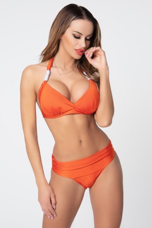 Pyramid kiszélesített push-up háromszög bikini, chili-ezüst, C-D kosár