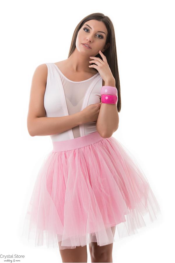 Tüllszoknya rózsaszín színben S