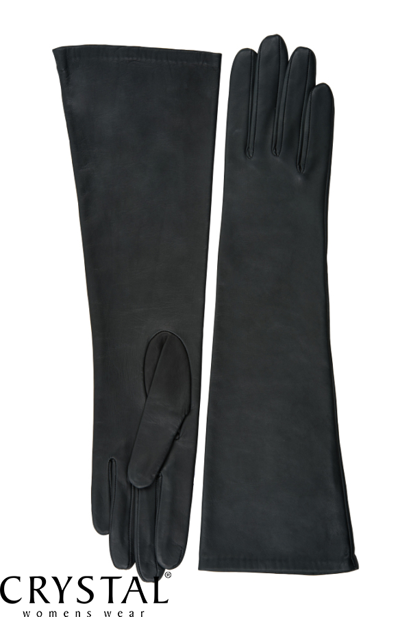 sötétszürke bőrkesztyű hosszú