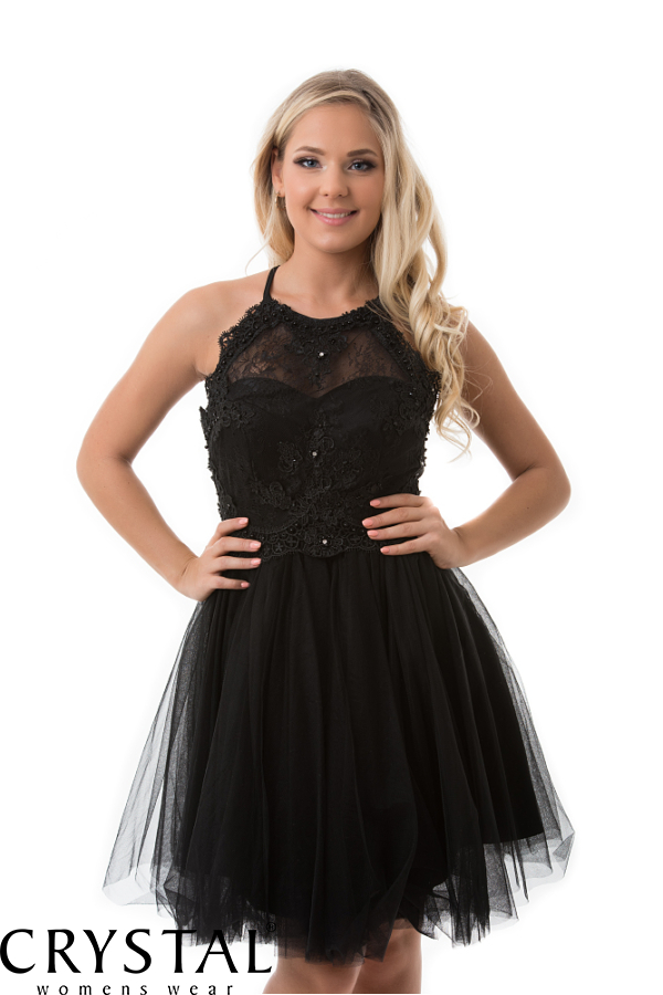 Vintage fekete koktélruha
