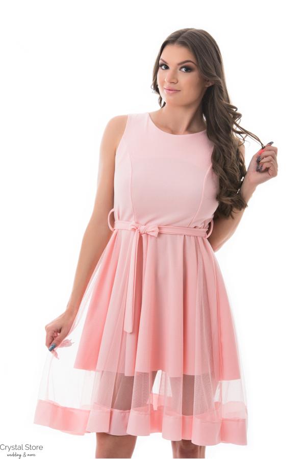 32b810e5a9 Simple alkalmi ruha, rózsaszín