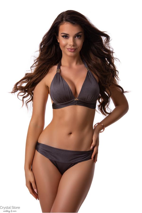 Paloma push-up háromszög bikini, selyem barna 1016