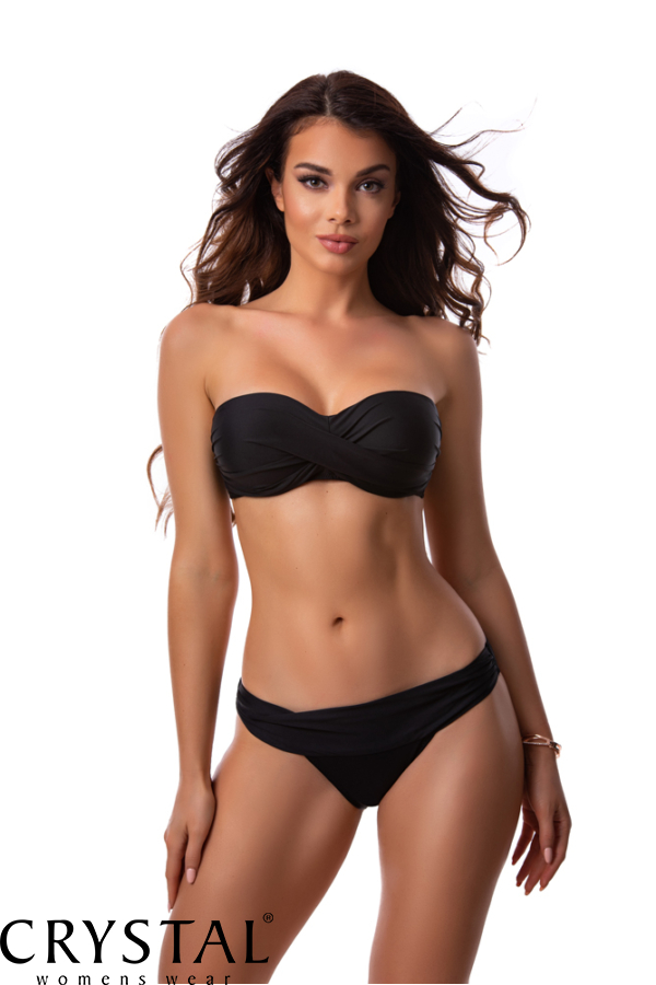 Paloma tekert merevítős cső bikini, fekete 907 E kosár