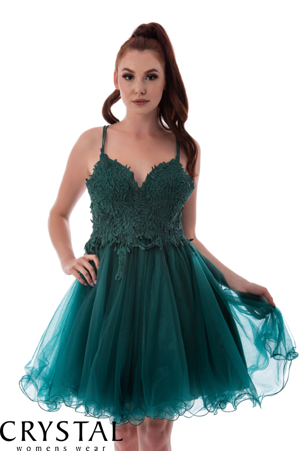 Emerald koktélruha stólával, sötétzöld